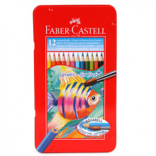 FABER CASTELL WATERCOLOUR PENCILS 12pcs