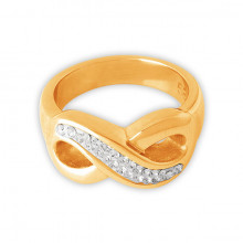 GD 316 CRYSTAL INFINITY RING