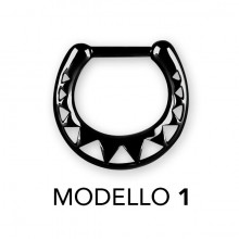 BK 316 SEPTUM CLICKERS AFRICAN PATTERN