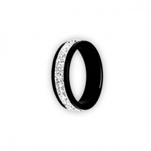 BK 316 DOUBLE JEWELLED CRYSTAL RING