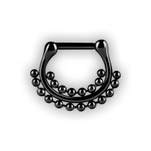BK 316 SEPTUM CLICKERS DOUBLE SIDE BALL CHAIN