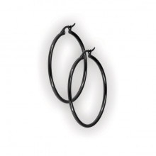 BK 316 STEEL ROUND HOOP EARRINGS (2mm)