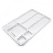 PLASTIC SINGLE TRAY 18x28cm 10pcs