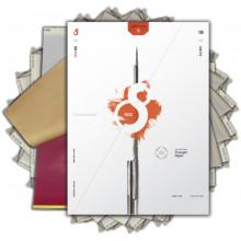 S8 RED STENCIL PAPER 100pcs - 210x280mm
