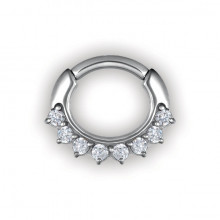 STEEL JEWELLED CURVED BAR SEPTUM CLICKERS