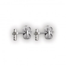 CROSS STUD W/ MICROPAVE SETTING WH
