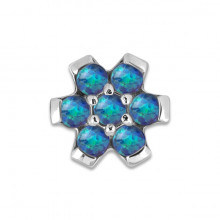 STEEL 316 SYNTHETIC OPAL FLOWER ATTACHMENT