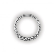 STEEL HINGED RING TWISTED ROPE