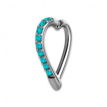 HINGED JEWELLED HEART RING