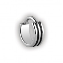 STEEL HINGED RING 3 RINGS 1,2x7mm
