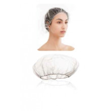 White TNT hair net- single pack - Polybag 100pcs